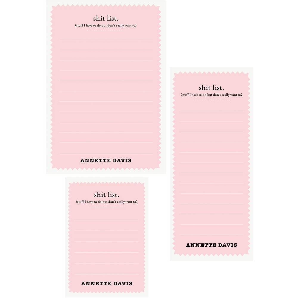 Sh*t List Mixed Personalized Note Pads