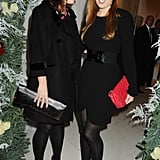 Princess Eugenie and Princess Beatrice posed for pictures at a performance of The Nutcracker in London in 2009.