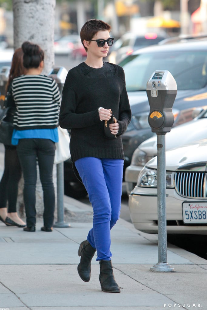 Anne Hathaway grabbed an early-bird dinner in Beverly Hills last night with her fiancé, Adam Shulman. The pair dined at Bibigo Korean BBQ, and gentlemanly Adam politely opened the car door for Anne as they headed home. Engaged couple Anne and Adam are hanging out on the West Coast while she preps to tour the globe ahead of The Dark Knight Rises's July 20 release. Anne and her costars, Christian Bale, Joseph Gordon-Levitt, and Tom Hardy, share the big screen in Christopher Nolan's third and final installment in the franchise. The famous faces can also be see defending and destroying Gotham City in the fourth Dark Knight Rises trailer. Anne, Christian, and the rest of the cast will be in the US for the stateside premiere on July 16 in NYC.