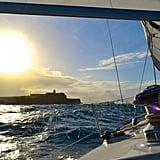 Sailing to El Morro in San Juan, Puerto Rico.