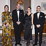 For a Black-Tie Dinner, the Duchess of Cambridge Wore a Beautiful Gold Gown