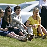 In 2009, Kate, Pippa, and their friends watched William play in the Audi Polo Challenge.