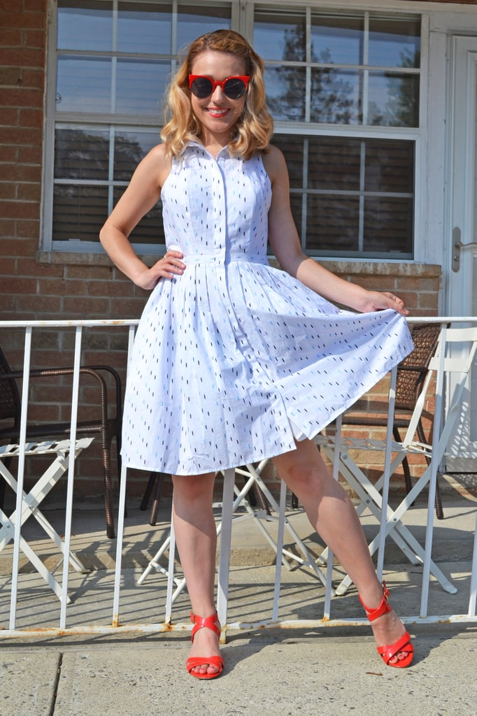 Item: Ann Taylor Clipdot Pleated Shirtdress ($105, originally $129) Why I Bought It: There are a ton of ways to style a white dress and this one was very cute. Plus I needed something for outdoor barbecues and it just screamed Summer.