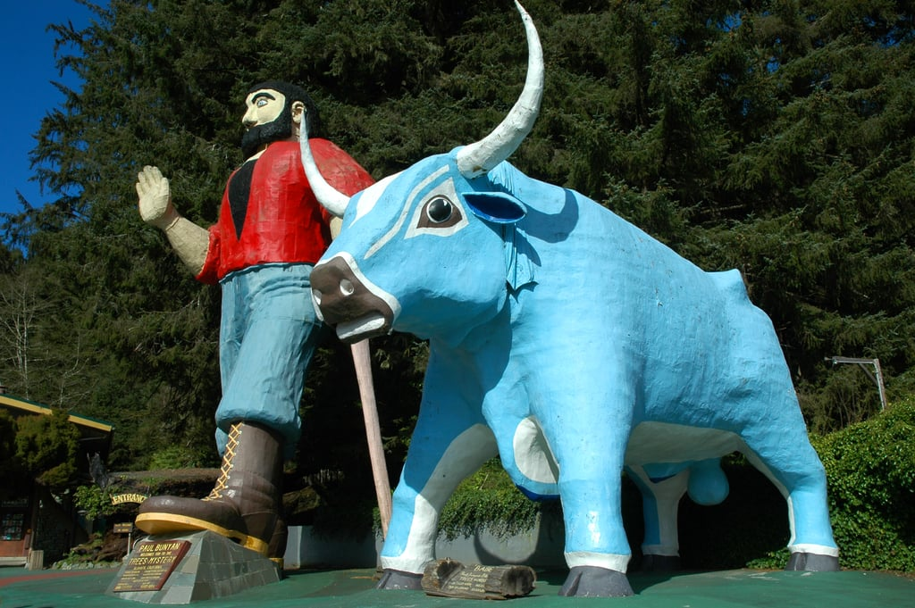Paul Bunyon and Babe the Big Blue Ox