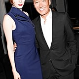 The man and woman of the hour, Coco Rocha and Joe Zee, greeted the crowd after the model's holographic performance at Lexus Design Disrupted.