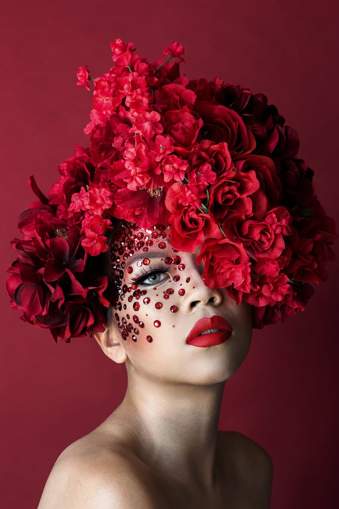 Cindy Chen Designs Red Roses Makeup Look