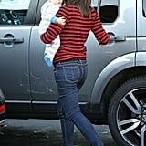 Jennifer Garner put Samuel Affleck in the car.