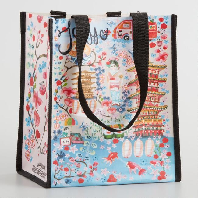 Small Tokyo Illustrated Cities Tote Bag Set