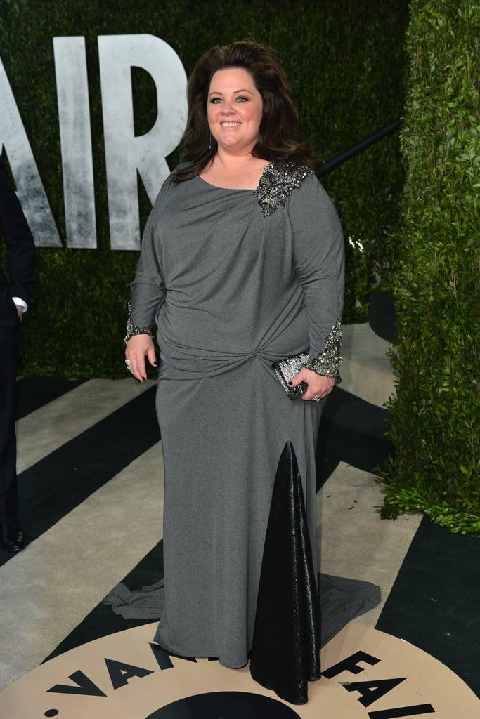 Melissa McCarthy arrived at the Vanity Fair Oscar party on Sunday night.