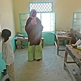 Garfors visited a small school when he was in Somalia. Most children attending the school hadn't seen foreigners before, so they all wanted to touch Garfors to make sure he was real.