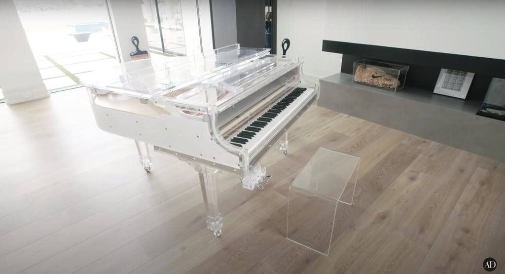 How cool is this clear Wurlitzer piano?