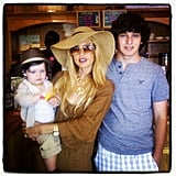Rachel Zoe went to lunch with her son, Skyler, and her nephew, Luke. Source: Instagram user rachelzoe
