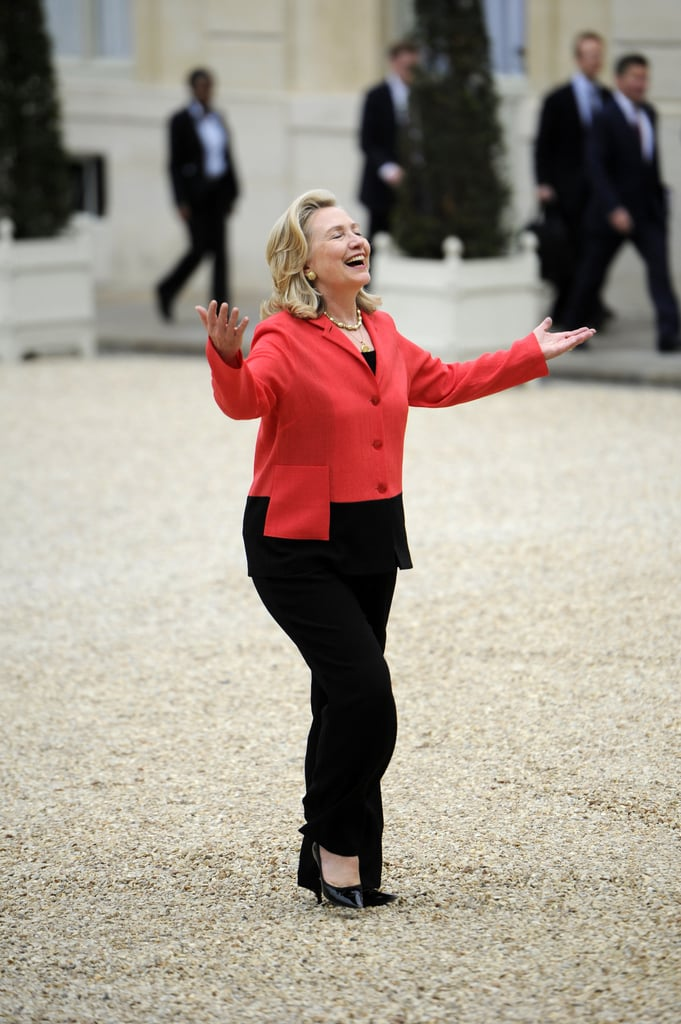 Hillary Clinton's Epic T-Shirt Will Turn You Into a Fan of the Trousersuit