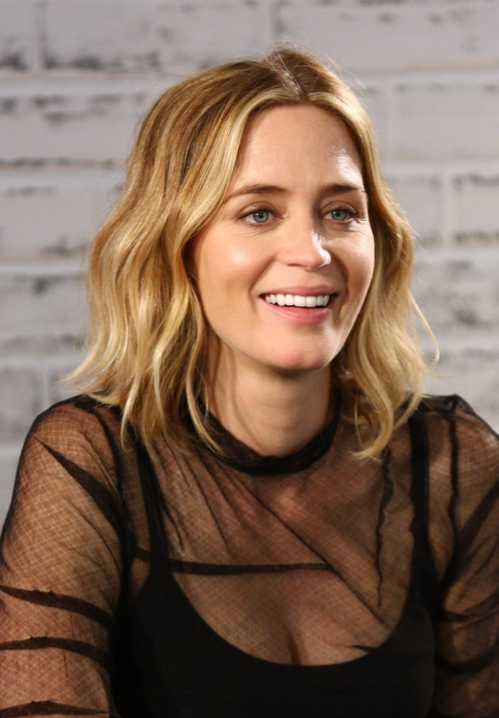 haircuts for curly hair pictures emily blunt wavy bob hair inspiration popsugar 4243