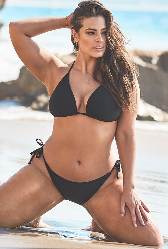 Ashley Graham x Swimsuits For All Icon Black Triangle Bikini with Side Tie Brief