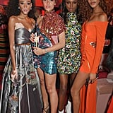 Winnie Harlow, Adwoa Aboah, Leomie Anderson, and Jourdan Dunn