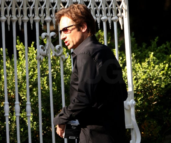 Photo of David Duchovny Filming Californication in LA