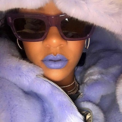 Rihanna Fenty Beauty Purple Lipstick