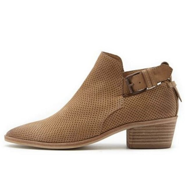 Dolce Vita Perforated Suede Ankle Boots ($148)