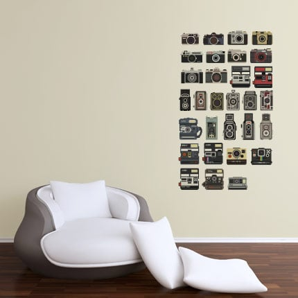 Camera Vinyl Wall Decals
