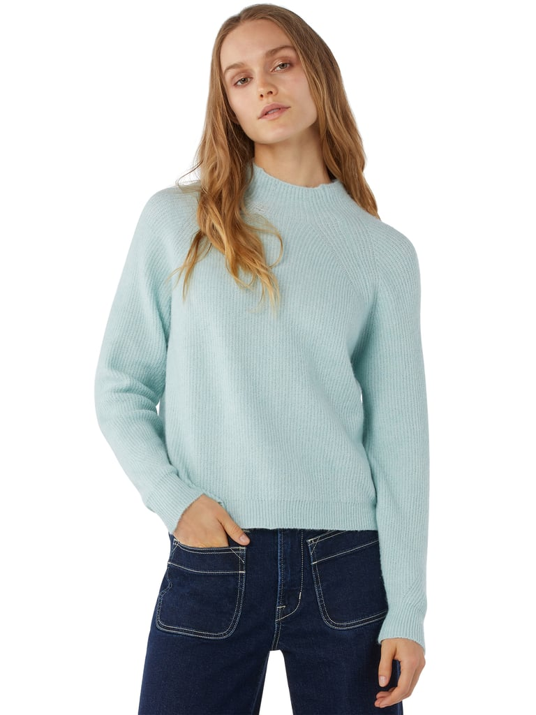 Free Assembly Women's Super-Soft Mock Neck Sweater