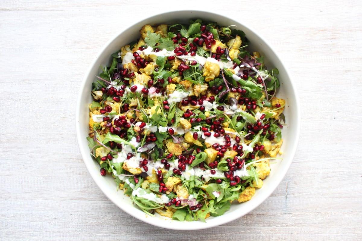 Spiced Cauliflower Salad with Kefir Dressing Recipe   POPSUGAR Fitness Australia