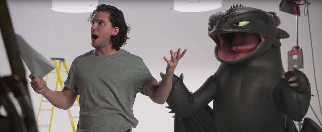 فيديو لكيت هارينغتون أثناء اختبار أداء فيلم How-Train-Your-Dragon