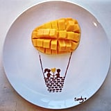 Mango and Nutella star in this sweet hot air balloon creation.  Source: Instagram user sandy0423