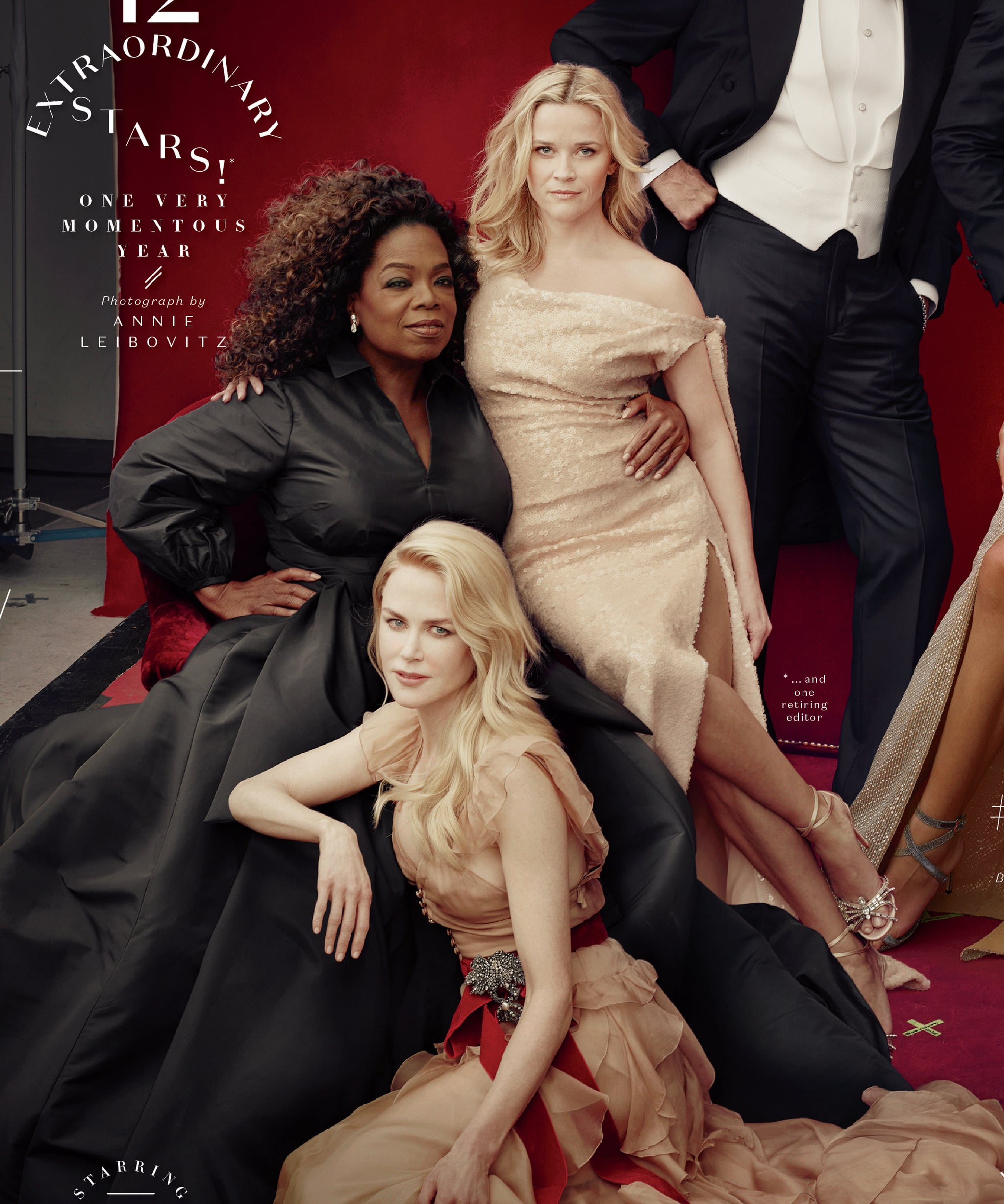 Reese Witherspoon pictured with three legs on Vanity Fair Hollywood cover