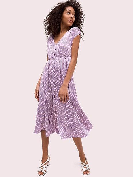 Geo Dot Satin Midi Dress