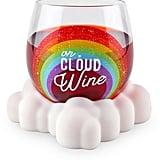 "BigMouth Inc. ""On Cloud Wine"" Stemless Wine Glass & Coaster Set"