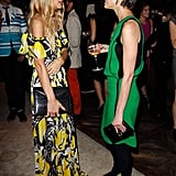 Rachel Zoe and Cindi Leive took time to chat at the party in West Hollywood.