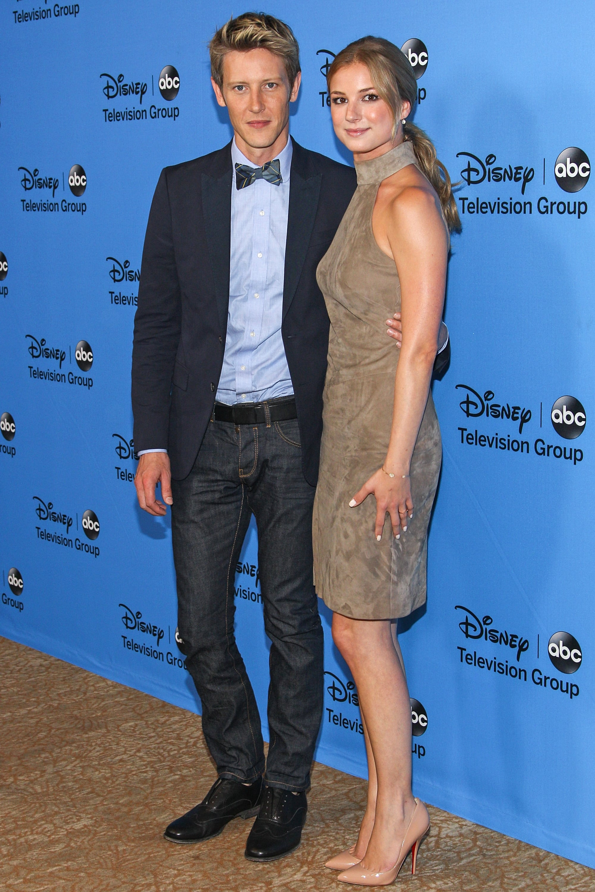 Revenge stars Emily VanCamp and Gabriel Mann posed together at a party hosted by Disney/ABC Television Group.