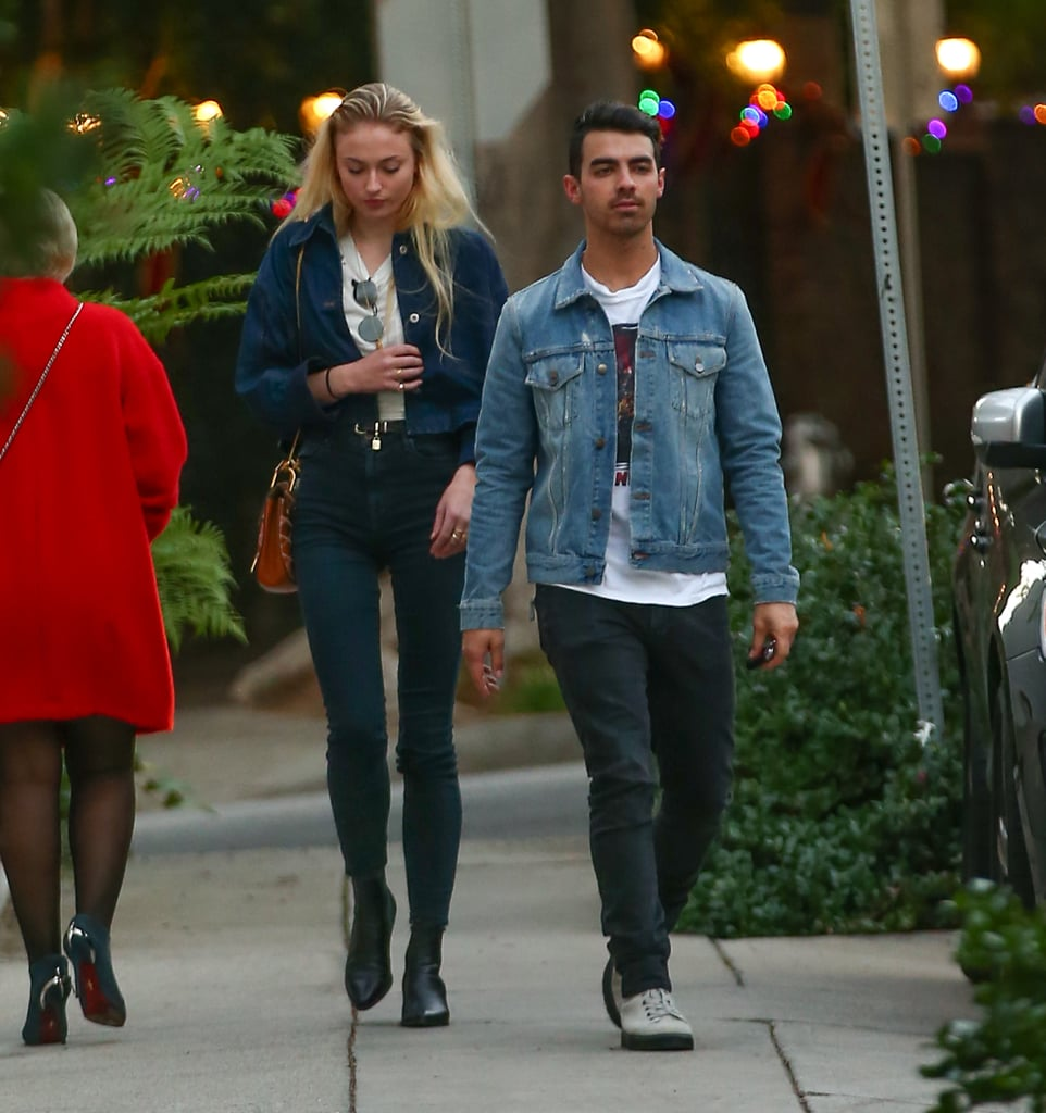 When Both Sophie and Joe Wore Their Denim Jackets and White Shirts