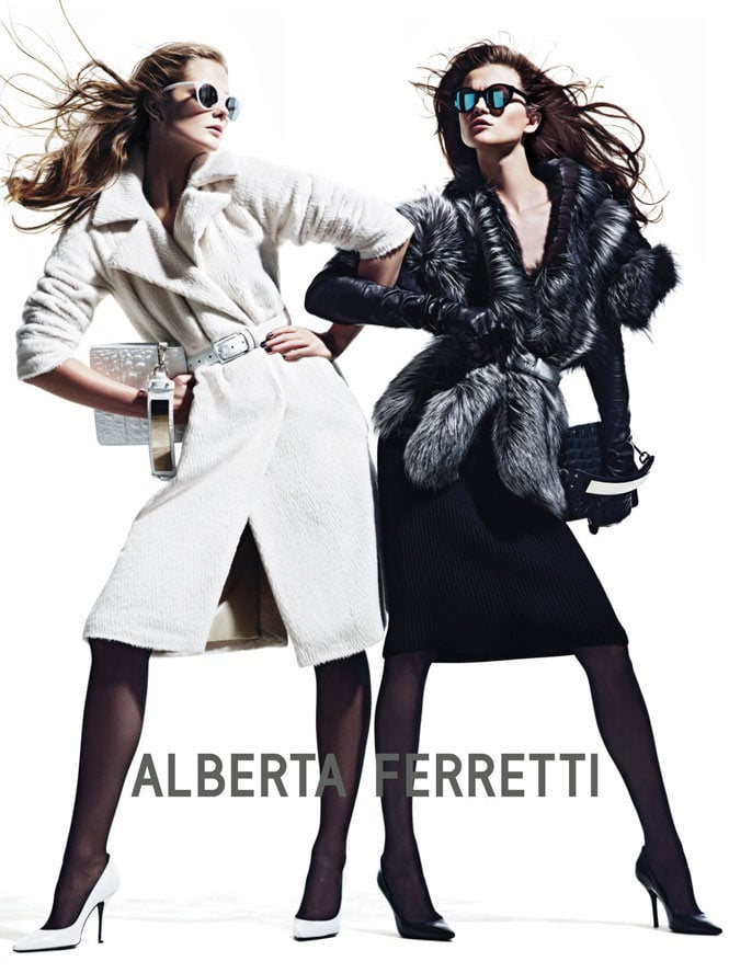 We're loving the bold girl-about-town feel captured in the latest batch of Fall '12 ads from Alberta Ferretti.