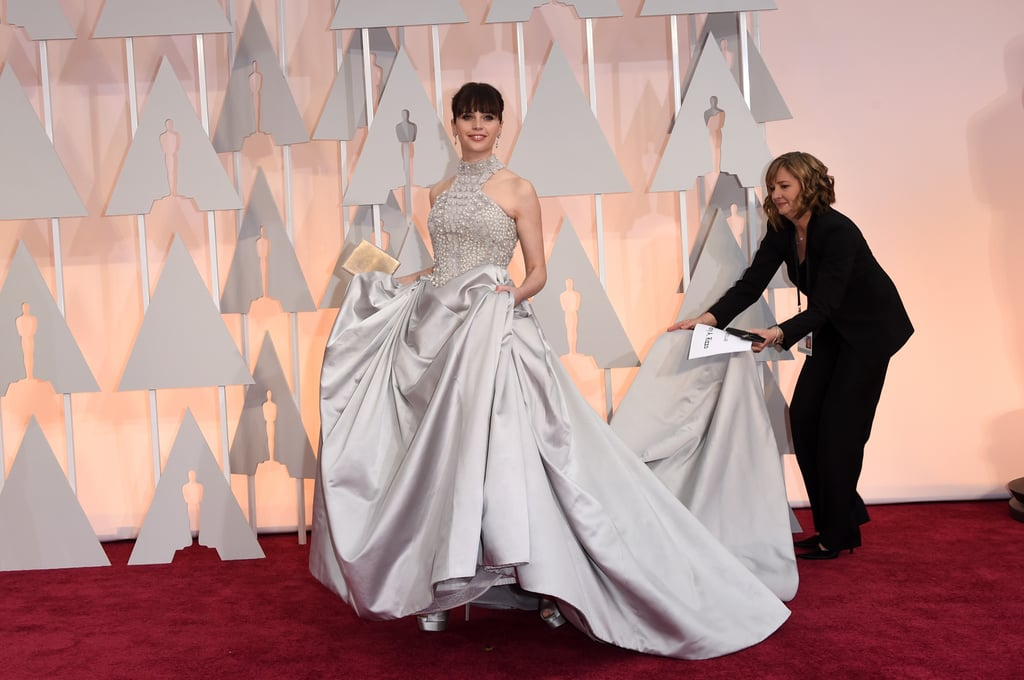 Felicity Jones in Sarah Burton for Alexander McQueen at the 2015 Oscars