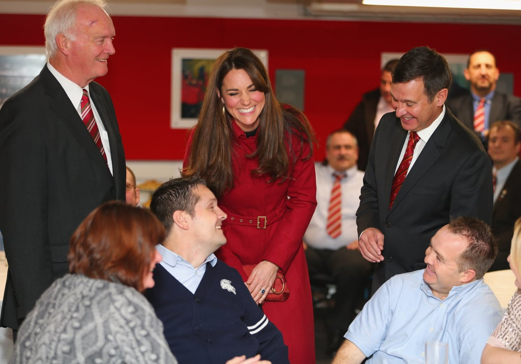 Kate was looking happier than ever, laughing and chatting animatedly with guests.