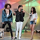 Selena Gomez took the stage with LMFAO at the MuchMusic Video Awards in Toronto.