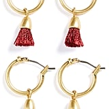 Madewell Tassel Hoop Earrings (Set of 2) ($32)