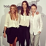 Aussie models Cheyenne Tozzi, Alexandra Agosoton and Louise Van de Vorst wore their white Witchery shirts with pride at the Ovarian Cancer Research Foundation launch during the week.
