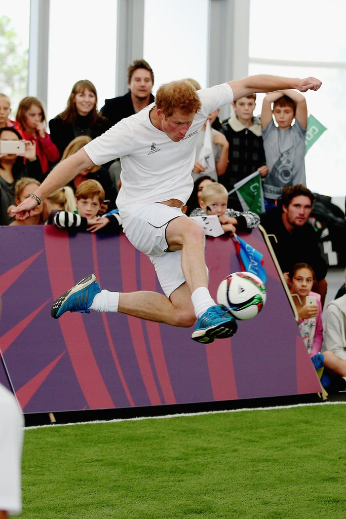 Prince Harry Can't Control His Royal Hotness While Playing Football