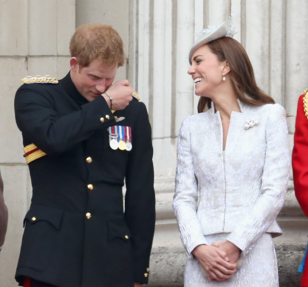 "Although Kate Middleton has shared plenty of memorable moments with her other half, Prince William, over the years, she's also had some sweet and hilarious interactions with her brother-in-law, Prince Harry. He regularly has her laughing out loud when they attend events together, whether they're cracking up on the Buckingham Palace balcony or flashing big smiles in the stands. To make matters even cuter, Harry considers Kate ""the big sister he never had."" In an interview with Newsweek, the royal revealed that Kate, whom he refers to as ""Cath,"" has helped him cope with the loss of his mother, Princess Diana. To get your royal-family fix, keep reading for a look at the duo's fun photos together, then check out the all-time best pictures of Prince William and Prince Harry.      Related:                                                                                                           22 Thoughts Prince Harry Probably Has While Third-Wheeling With Will and Kate"