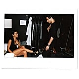 Kim Released Snapshots of Her Balmain Ad Campaign Fitting