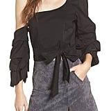 ASTR Ruffle One-Shoulder Blouse