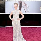 Amanda Seyfried wore an Alexander McQueen gown to the Oscars.
