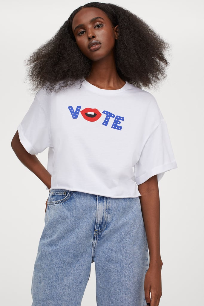 Women's Cropped Vote T-Shirt