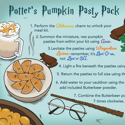 "Hilarious ""Meal Kits"" From Harry Potter, Star Wars, and More"