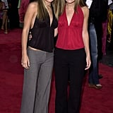 Mary-Kate and Ashley Olsen in July 2001