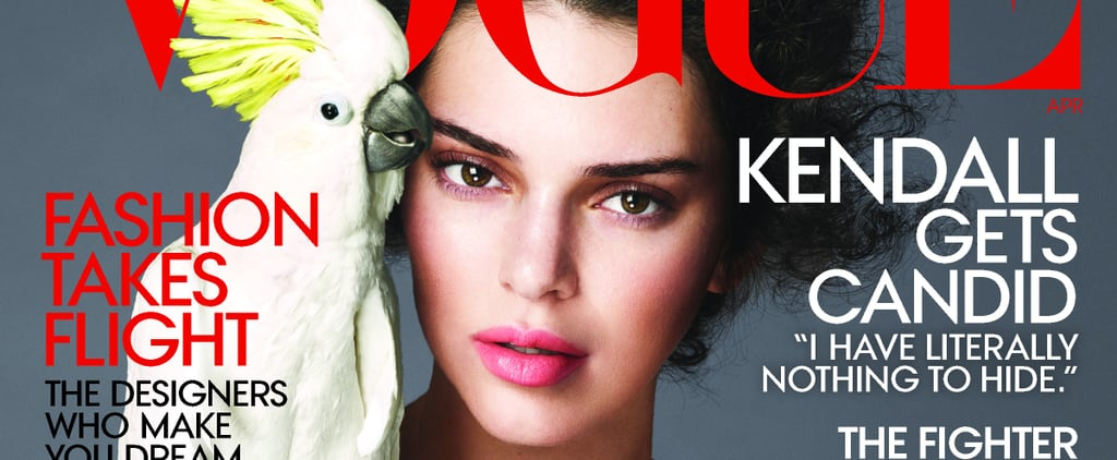 Don't Mind Kendall Jenner Just Casually Posing With a Cockatoo on the Cover of Vogue