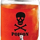 Circleware Skull Mason Jar Glass Beverage Dispenser